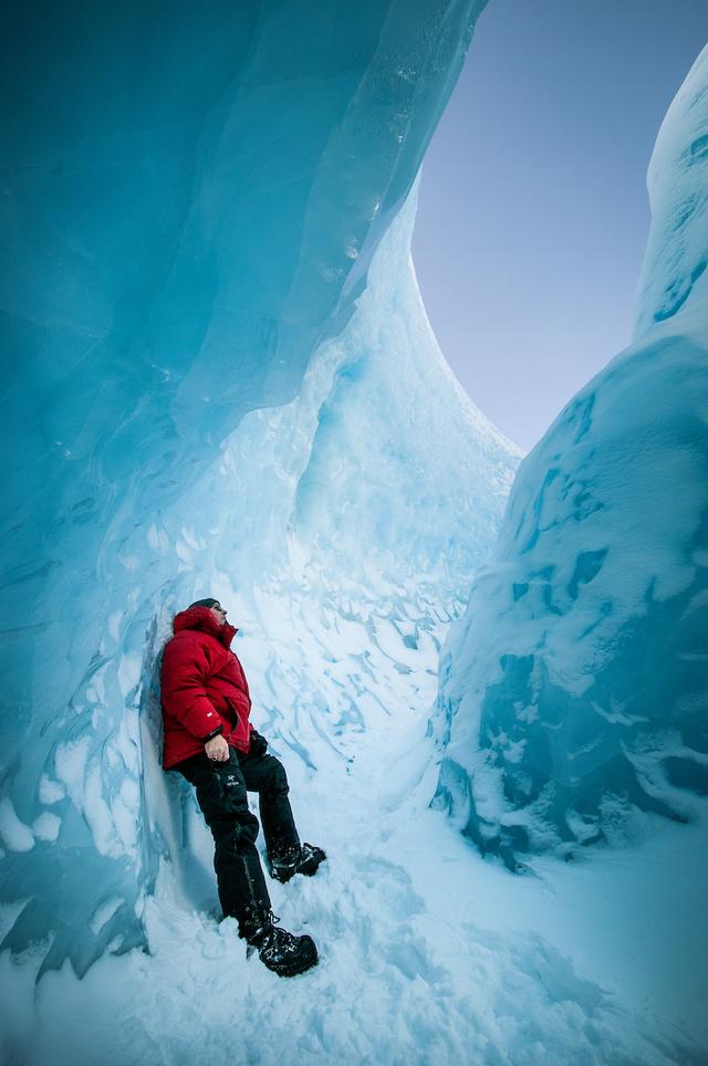 Winter: ice cap near kangerlussuaq humbert entress visit greenland