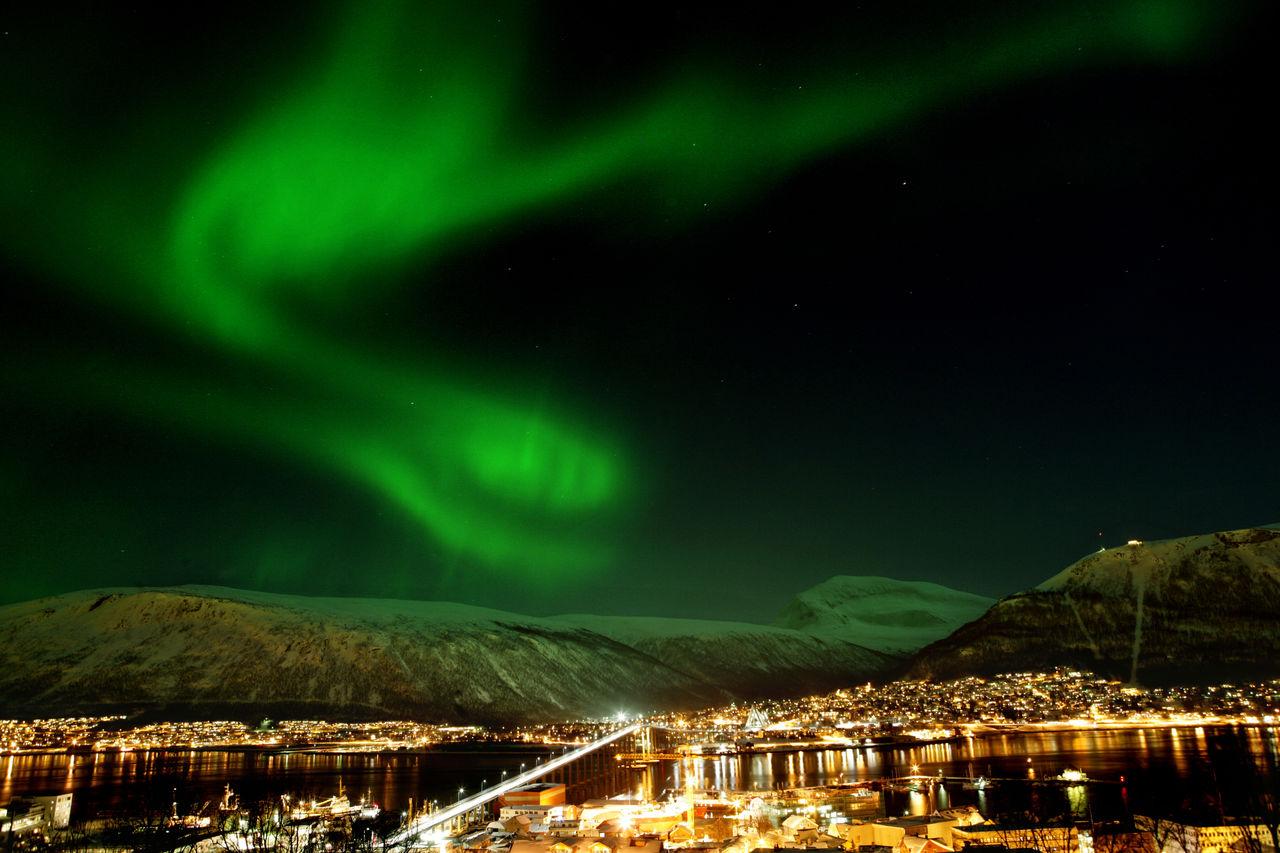 Winter: nordlichter yngve olsen saebbe  nordnorge com