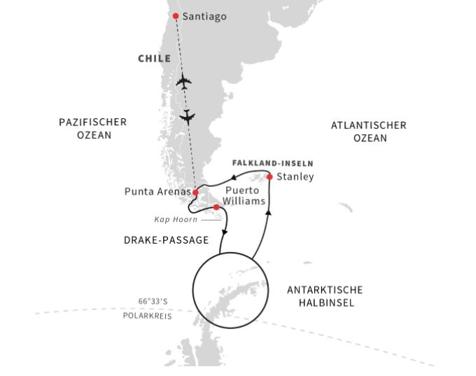 Expeditionen: EntdeckungsreiseAntarktisCFalklandinselnundchilenischeFjordeB