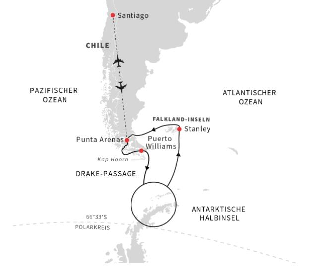 Hurtigruten: EntdeckungsreiseAntarktisCFalklandinselnundchilenischeFjorde