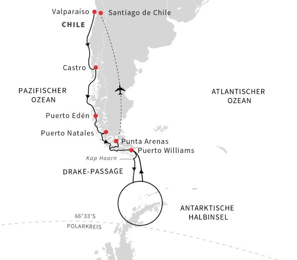 Hurtigruten: EntdeckungsreiseAntarktisCPatagonienundchilenischeFjorde