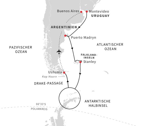Hurtigruten: Reiseverlauf