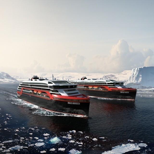 Hurtigruten: ms roald amundsen ms fridtjof nansen antarktis hurtigruten as