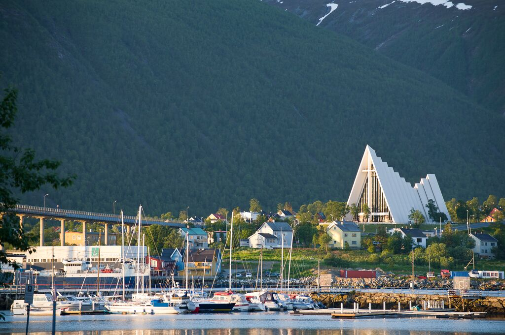 Winter: arctic cathedral tromso ch visitnorway com