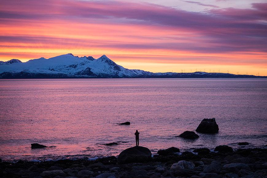 Winter: aussicht  visit lyngenfjord com