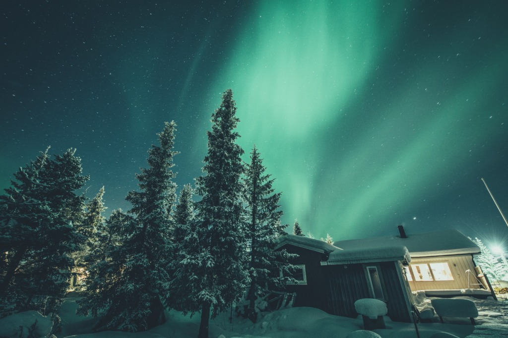 Winter: nordlichter asaf kliger imagebank sweden se