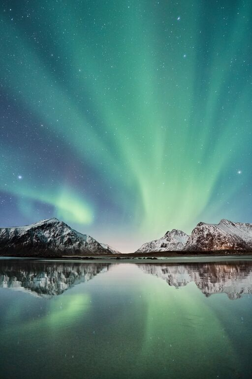 Winter: northern lights lofoten johny goerend visitnorway com