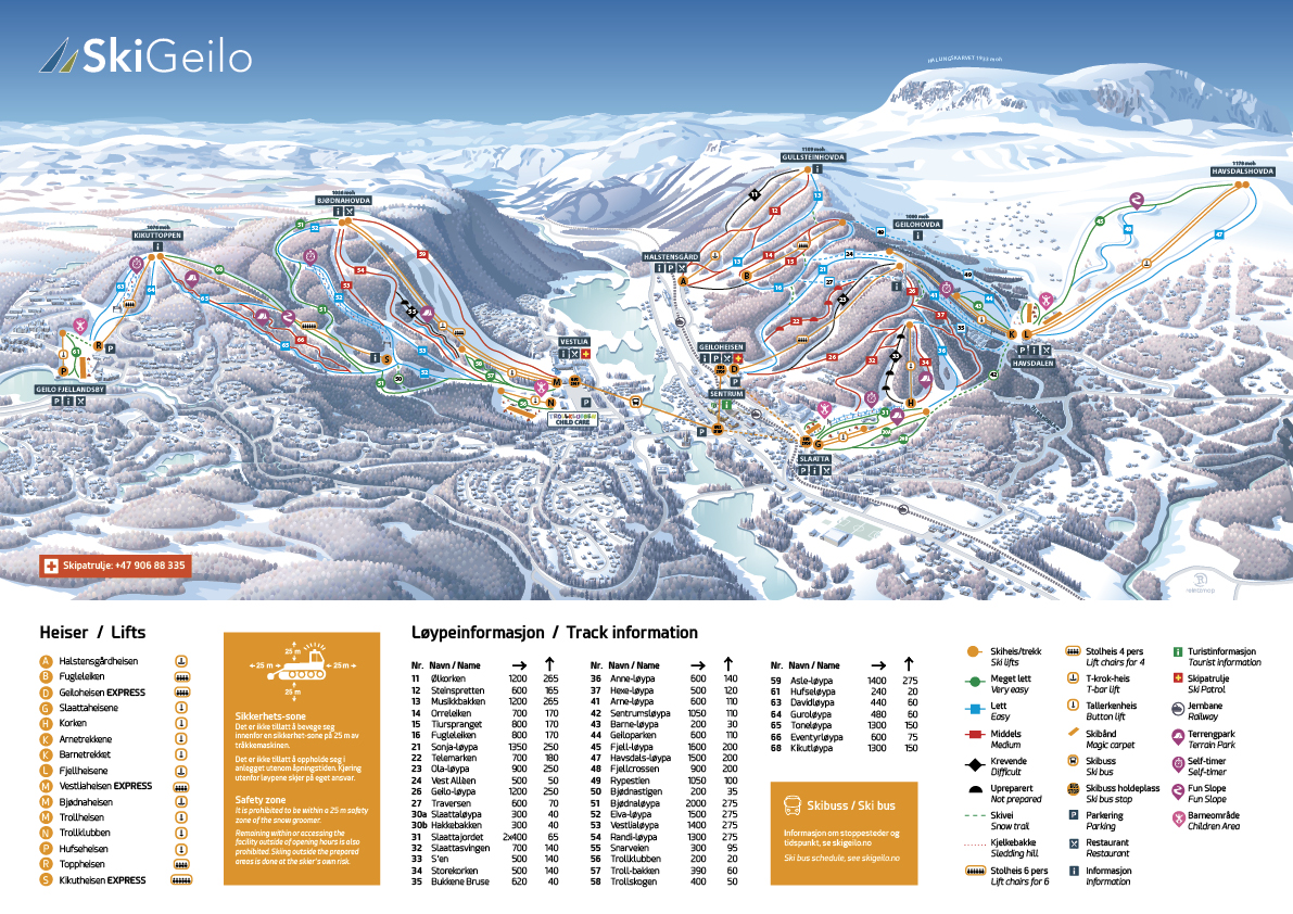 Winter: skipiste geilo  skigeilo no