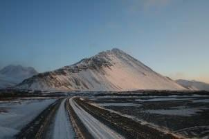 Winter: drive to Reykholt in winter