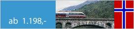 Rundreisen  Sognefjord, Bergenbahn und Hurtigrute